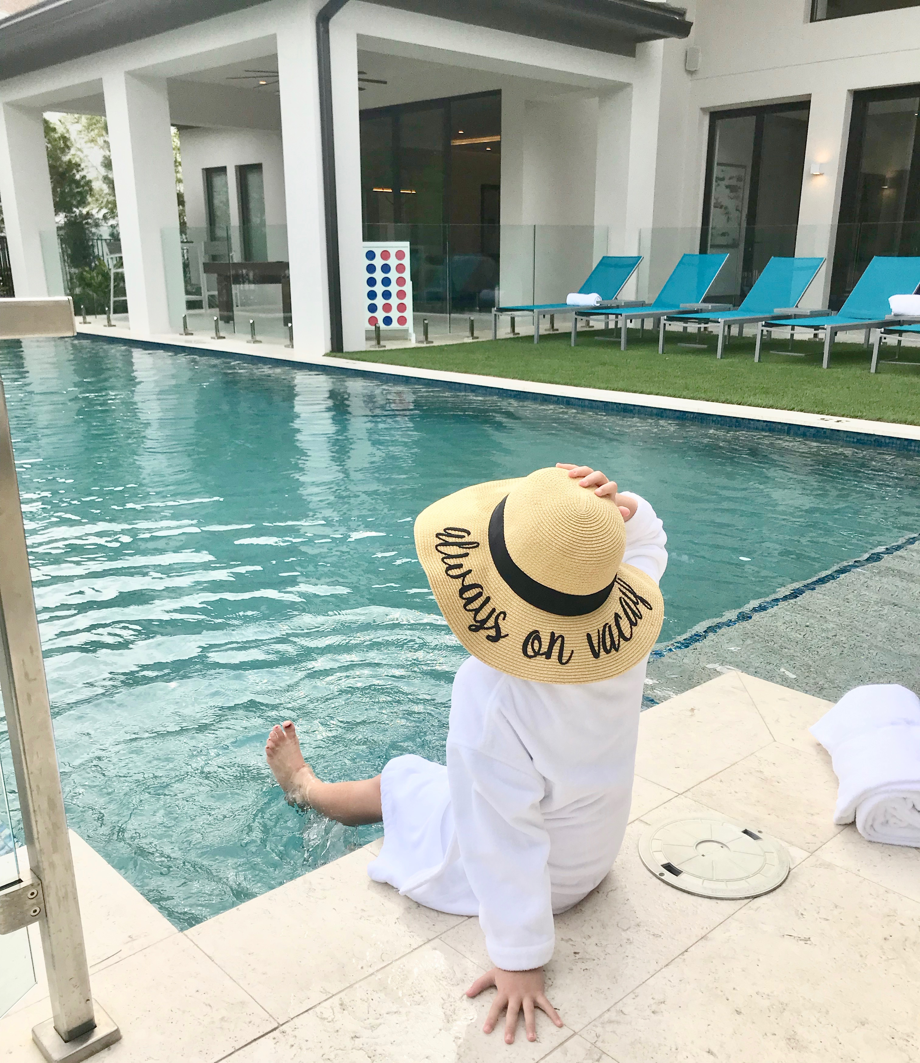 Always on Vacay at Isolé Villas poolside