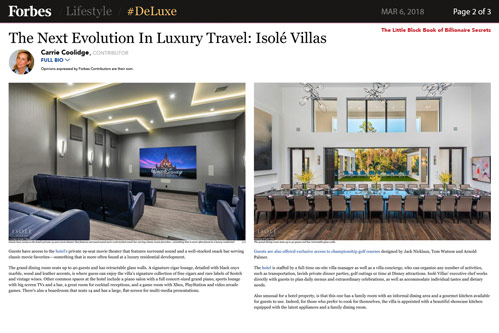Forbes The Next Evolution In Luxury Travel Mar 2018