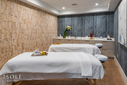 Isolé Villas Massage Room