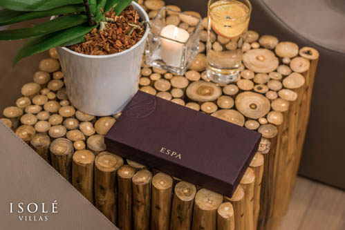 Isolé Villas ESPA products