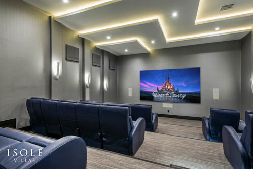 Isolé Villas Theater Room