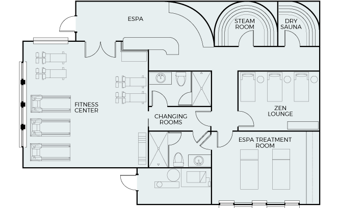 Spa & Wellness Center Floor Plan