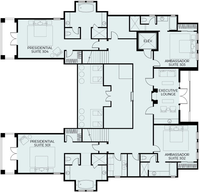 Executive Level Floor Plan